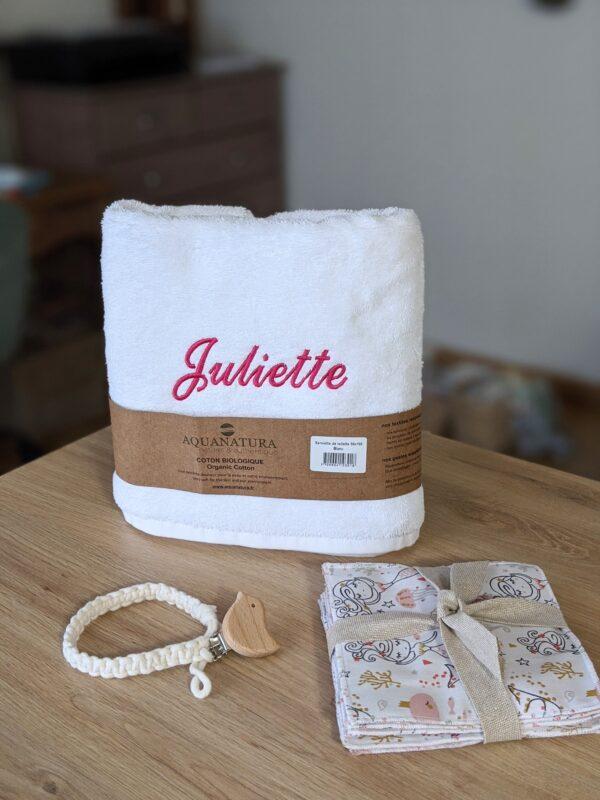 serviette de toilette coton biologique