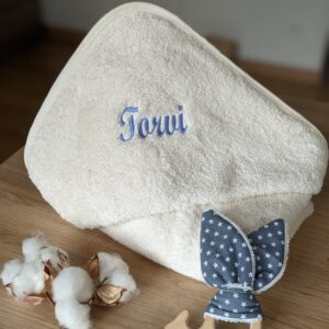 Cape de bain bébé coton biologique