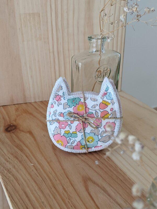 lingettes démaquillantes lavables chat